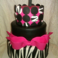 Zebra 1St Birthday   WASC cake covered in fondant! All fondant details, also.