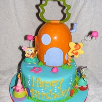 Spongebob 2Nd Birthday (Girl)  Spongebob cake for 2-year-old Addy. The request was last minute, so I ended up buying the toppers, but tried to offset that with some...