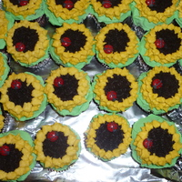 Sunflower Cupcakes thanks for the inspiration CC.