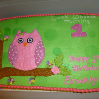 1St Birthday Owl Cake All buttercream... Matched the invitation perfectly.