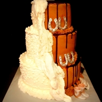 Vanilla And Chocolate Wedding Cake Half Vanilla half Chocolate wedding cake
