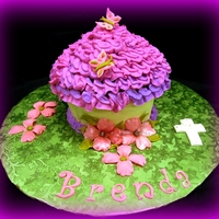 Dogwood Giant Cupcake Dogwood, cross, purple, green and pink giant cupcake