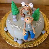 A Birthday Cake For A Man Who Loves Being In The Forrest