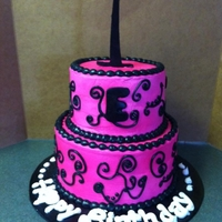 Pink And Black 1St Bday