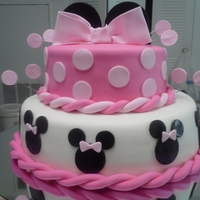 Minnie Mouse Cake This cake I got a request for and they got me a picture of it, the caker is from Puerto Rico, Thanks..... Its all vanilla and chocolate and...