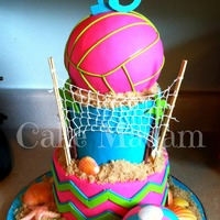 Volleyball Cake   Volleyball cake!