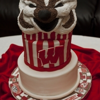 Bucky Badger Cake The beloved Mascot from Wisconsin :)