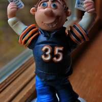 A Cake Topper For A Chicago Bears Fan His Girlfriend Was Surprising Him With Tickets To The Game For His Birthday And Wanted Me To Recreate... A cake topper for a Chicago Bears fan. His girlfriend was surprising him with tickets to the game for his birthday and wanted me to...