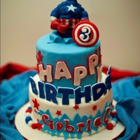 Captain America This is a Captain America themed cake was for Icing Smiles. I made it for a little boy turning 3. It was a lot of fun to make this cake....