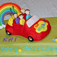 Wiggles Car Cake   Thanks to Andrea's Sweetcakes for the inspiration for this cake. Toot Toot chugga chugga Big Red Car!