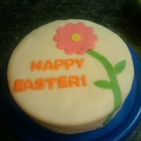 Happy Easter Cake 1st time making Marshmallow Fondant.
