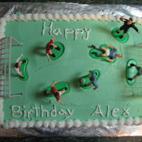 Soccer Cake Again, before I really started getting creative.