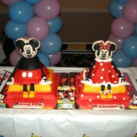 1315940186.jpg This is a cake I made for a twins first birthday - They are boy & a Girl