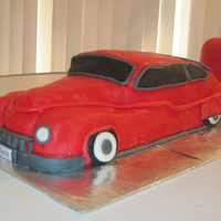1950 Mercury This was a 60th birthday cake for my dad - my first sculpted car cake. Definitely a learning process, but he loved it!