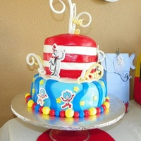 Dr. Seuss Inspired Baby Shower This cake was created per the detailed request of a client. She had photo examples of other cakes and wanted me to replicate them as much...
