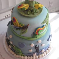 "Tadpole's Promise This cake was based on a quirky children's book, ""Tadpole's Promise."" It was a bridal shower present for a children&#..."
