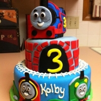 Thomas The Train Rice Krispy Thomas covered in fondant