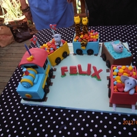 Choo Choo Zoo Train Cakes inspired by the very talented vanessa iti from bella cupcakes.