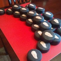 30 Hockey Pucks! Friends 30th Birthday.