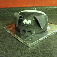Black Belt Pig Birthday Cake This was for a little boy in a family of pig farmers. His pig just had some babies so he asked for a pig cake for his birthday. :) They had...
