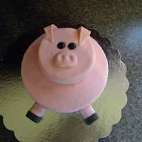 Pig Birthday Cake This was made for my boss's birthday who also does some pig work on the side. I can't remember the kind of cake used but it'...