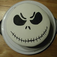 Jack Skellington Jack Skellington from Nightmare Before Christmas. I made him for our Halloween Cake last year. Love the pumpkin king!! :)