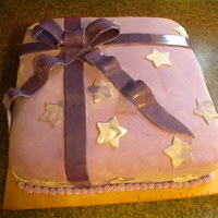 Purple Present Purple Present Birthday cake