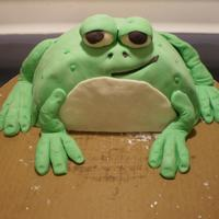 Frog Cake This was my first ever fondant cake. I made it for our daughter's first birthday a little over a year ago. Even though he was my first...