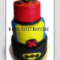 Superhero Birthday Cake This cake was a lot of fun to do!