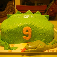 I Made It For My Son It Was 9 You Can See The Details On Httpwwwsquidoocomdragon Birthday Cake   I made it for my son. It was 9. You can see the details on : http://www.squidoo.com/dragon-birthday-cake