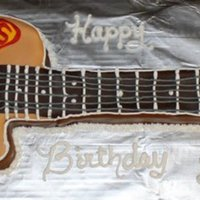 Guitar Cake Custom guitar cake hand carved... made to match customers personal guitar.