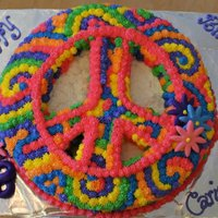 Tie Dye Peace Cake This was a peace sign cake that i cut out and tie dyed.