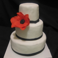Mini Cake With Red Flower