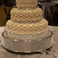 Bling And Blossoms Wedding Cake Bride sent me a pic of cake she wanted, it's a 14, 10, and a 6 in, 14 is Strawberry with White Chocolate filling, the 10 is French...