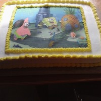 Adrian Spongebob Squarepant Birthday Cake   Yellow Coconut cake