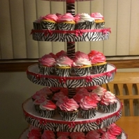 Rosa Zebra Cake And Cupcakes   This was my first time making a gumpaste Bow