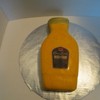 Crown Royal Bottle Italian cream cake with cream cheese frosting and covered in fondant. TFL.