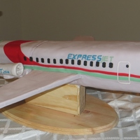 Airplane Birthday Cake I was trying to make an Embraer 145 for my husband. It was a red velvet cake with cream cheese frosting and covered in fondant. The bottom...