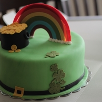 Luck 'o The Irish 10 inch cakes covered in fondant