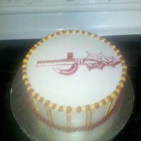 Fsu Cake Sorry for the terrible picture. The spear is freehand buttercream. I was totally shocked with myself...I'm a horrible drawer! :)