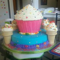 Candyland Cupcake I had the most fun with this cake. I love the girly theme! TFL. :)