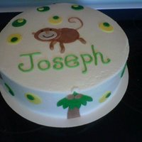 Monkey Baby Shower Cake   Totally threw this one together last minute! I like it though. :)