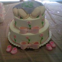 Baby Hiney My best friend's baby shower cake! RKT legs and feet.
