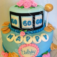 Slots Vanilla Cake with Vanilla Buttercream, Covered and Decorated with MMF. Enjoy!
