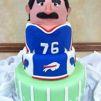 "Fred Smerlas Fred Smerlas cake for the Buffalo Bills ""In honor of"" dinner. Fred actually took his head back home wth him to Boston. Vanilla..."