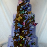 Enchanted Forest 5 tier cake, all handmade