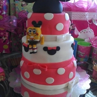 Madies 2Nd Bday Minnie and SpongeBob