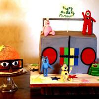 Yo Gabba Gabba Yo Gabba Gabba for first birthday. Inspiration taken from cakefiction.com out of NJ.