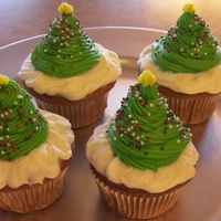 Christmas Cupcakes Gluten Free Red Velvet cupcakes (recipe on CC) with cream cheese frosting. TFL!