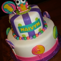 Owl First Birthday  this is a cake and smash cake I had done for a customer to match the outfit her daughter was wearing at her first birthday. I use MMF for...